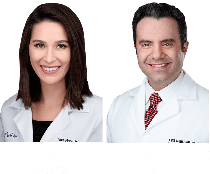 Photo of Dr. Tara Hahn, MD and Dr. Amir Mohsenin, MD, PhD